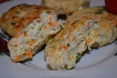 Куриные котлеты с кабачком и рисом (396x263, 37Kb)