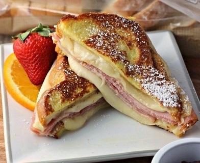 Сэндвич с сыром и ветчиной (392x320, 59Kb)
