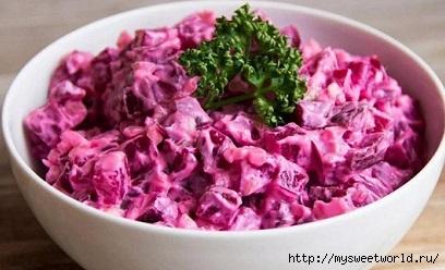 Свекольный салат с маринованными огурцами (408x248, 87Kb)