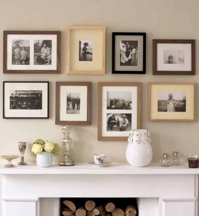 Как развесить фотографии на стене   домашняя фотогалерея