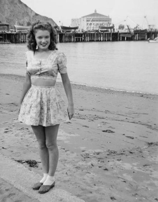 20 редких фотографий юной Мэрилин Монро
