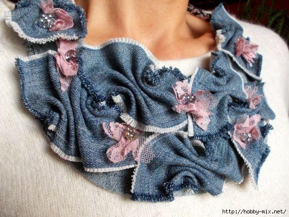 Бохо цветы из джинсы своими руками