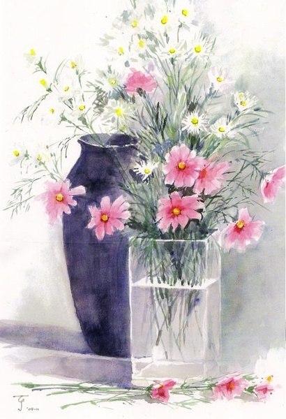 акварельные цветы 1 (410x600, 201Kb)