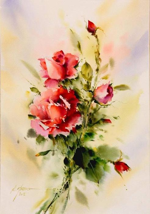 акварельные цветы 7 (492x700, 300Kb)