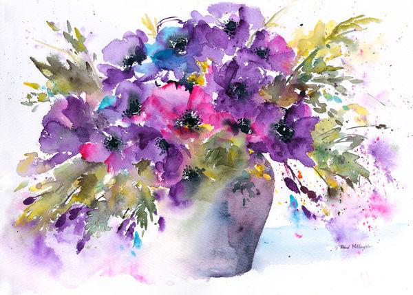 акварельные цветы 11 (600x429, 252Kb)
