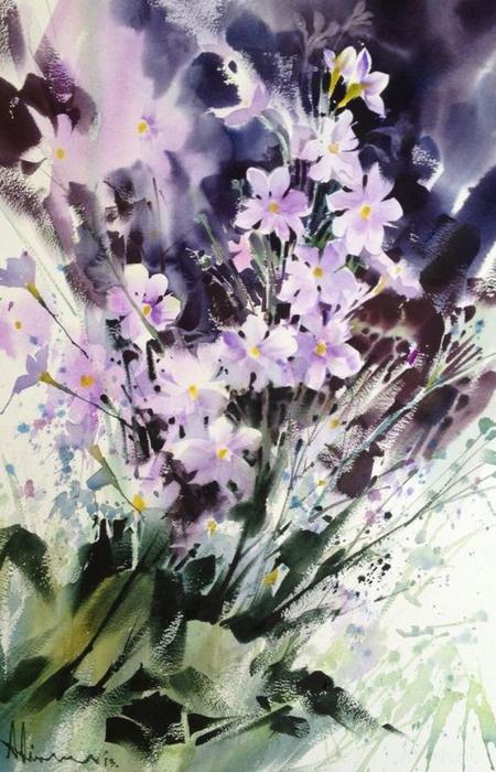 акварельные цветы 17 (450x700, 354Kb)