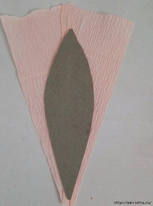 Цветы ЛИЛИИ из гофрированной бумаги. Мастер-класс (8) (498x668, 156Kb)