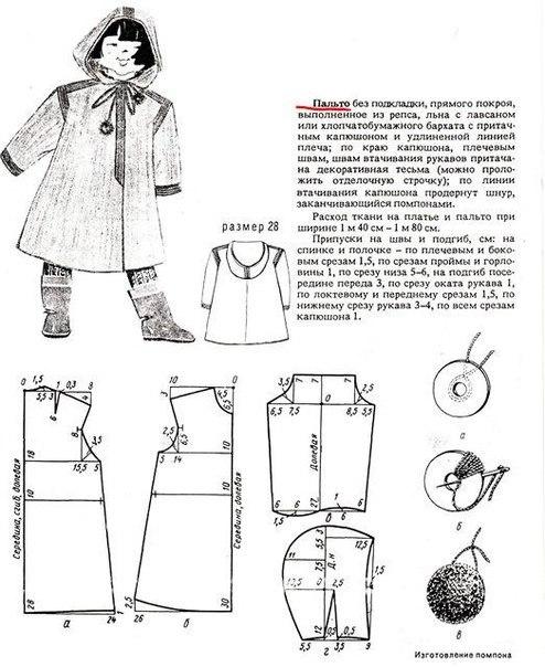 Пальто для девочки сшить своими руками выкройки