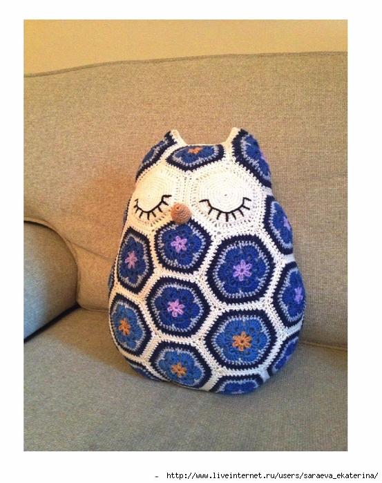 JosCrocheteria - Maggie the Owl Pillow_1 (553x700, 300Kb)