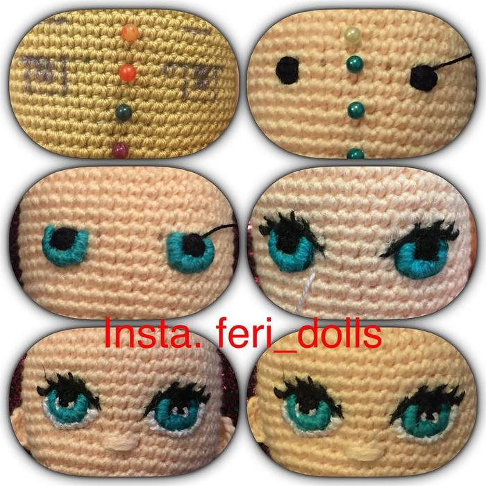 Глазки для вязаных кукол своими руками 61