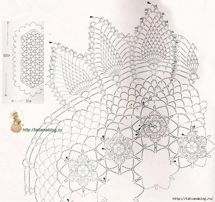 Салфетки крючком со схемами вязания./3071837_102 (700x658, 399Kb)