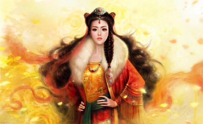 99px_ru_wallpaper_115588_kitajskaja_princessa_v_bogatom_narjade_s_mehovim_vorotnikom (700x429, 343Kb)