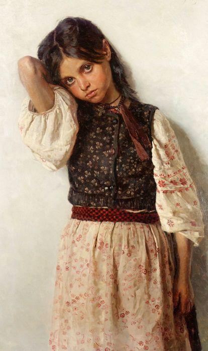Дівчинка з Малоросії, 1892 рік. Микола Корнилович Бодаревський(1) (414x700, 48Kb)