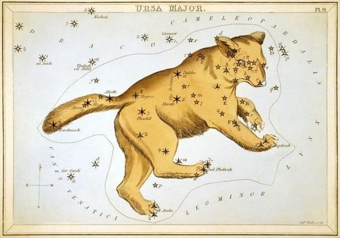 Как созвездия получили свои названия