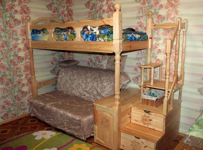 Как самому сделать двухъярусную детскую кровать