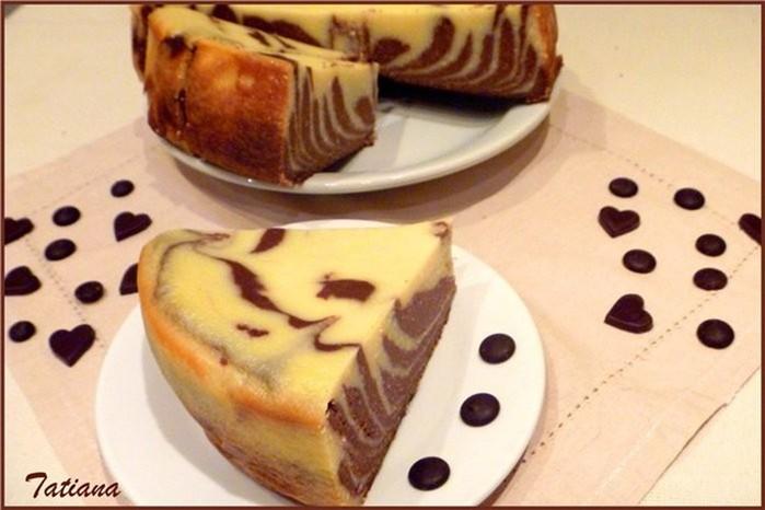 Творожно шоколадный десерт в мультиварке