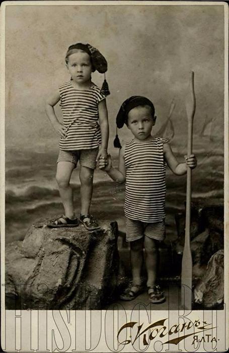 Детское фото, С. Коган, Ялта, июль 1909 года.1 (455x700, 274Kb)