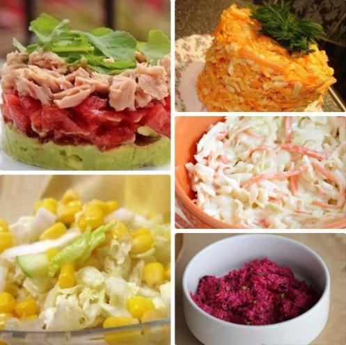 Салаты с низкой калорийностью рецепты с фото