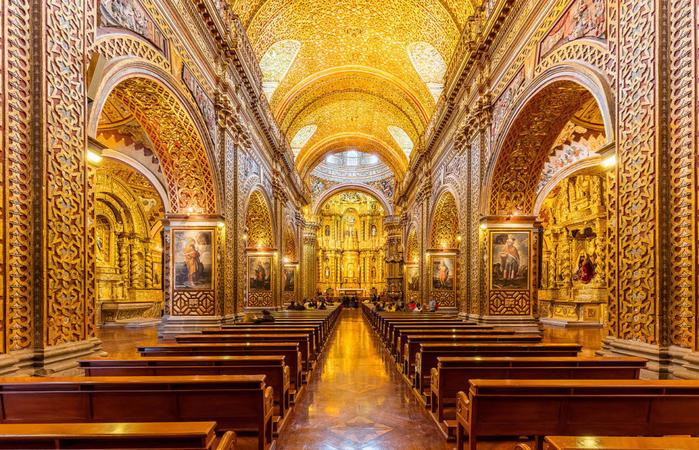 Церковь Общества Иисуса  кито эквадор 3 (700x450, 614Kb)
