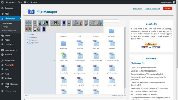 Добавляем файловый менеджер в консоль управления блогом