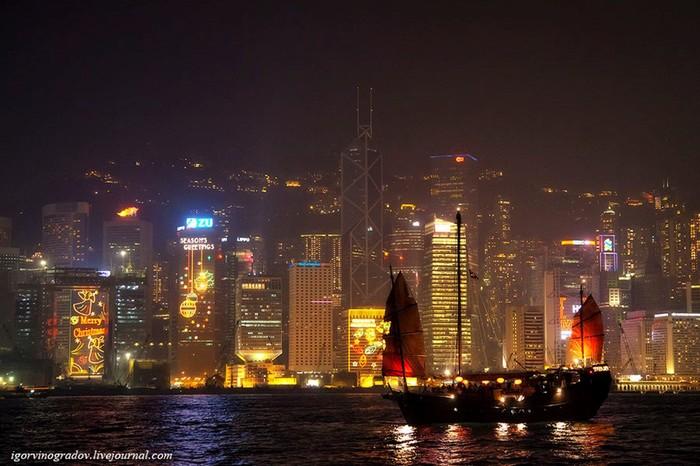 Ночной Гонконг: панорамы мегаполиса
