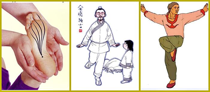 Упражнение «Золотой петух стоит на одной ноге»
