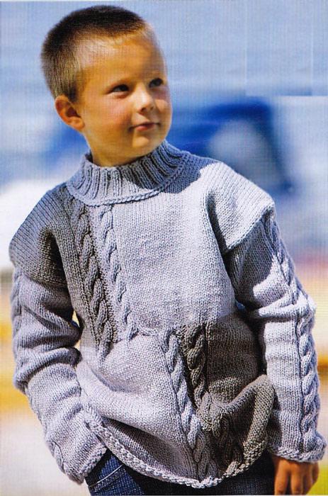Вязание спицами кофта на мальчика 7 лет 2