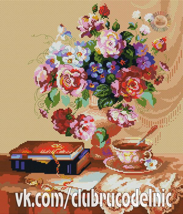 Цветочный этюд (598x700, 775Kb)