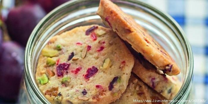 Печенье с орехами и вялеными ягодами (700x350, 175Kb)