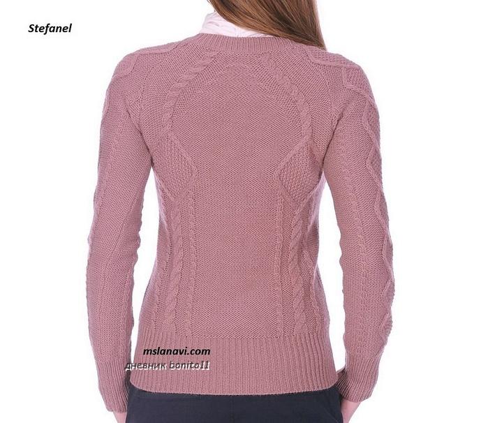 Вязаный-пуловер-спицами-от-Stefanel-спинка (700x606, 249Kb)