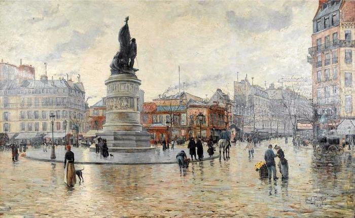 La place Clichy après la pluie. 1892 (700x430, 359Kb)