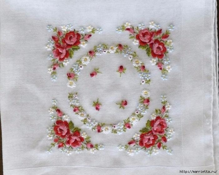 Вышивка объемными цветами 29