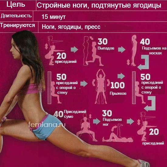 Упражнения для полных ног в домашних условиях