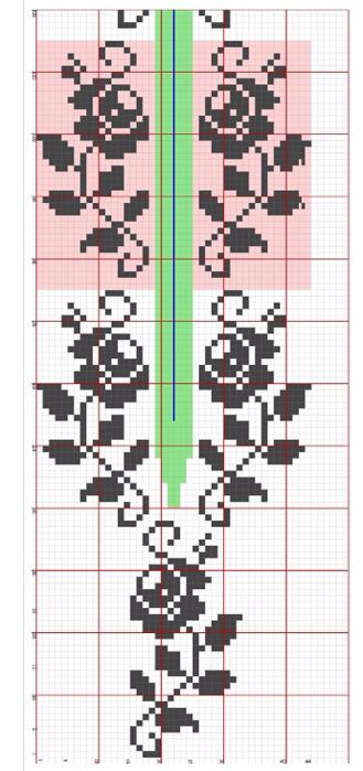 Платье спицами с жаккардовой каймой (20) (329x700, 237Kb)