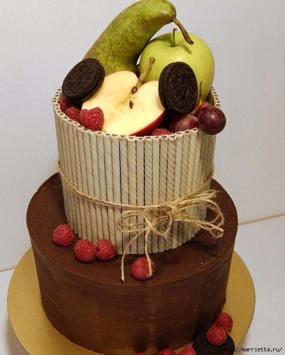 Шоколадный ГАНАШ. Рецепт и идеи тортов (12) (555x691, 220Kb)