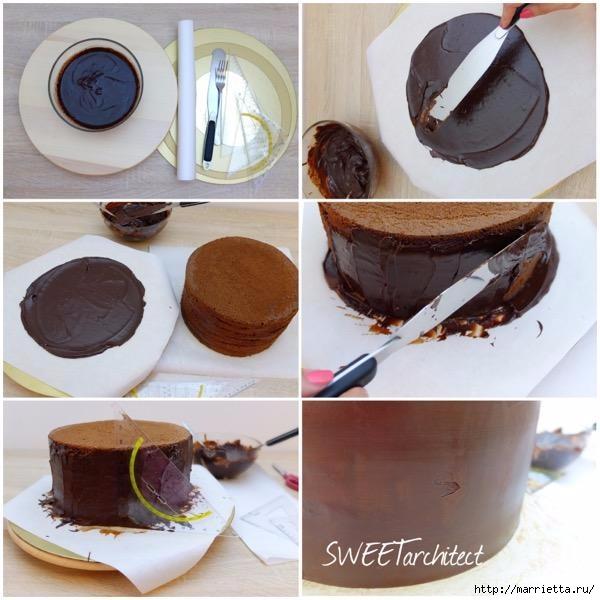 Шоколадный ГАНАШ. Рецепт и идеи тортов (16) (600x600, 171Kb)