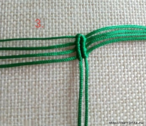 Плетение красивых листиков в технике макраме (4) (496x430, 150Kb)