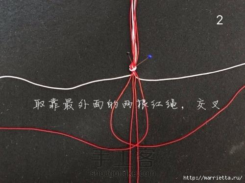 Плетение браслетика с цветочками в технике макраме (3) (500x375, 112Kb)