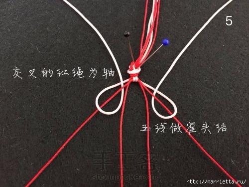 Плетение браслетика с цветочками в технике макраме (5) (500x375, 126Kb)