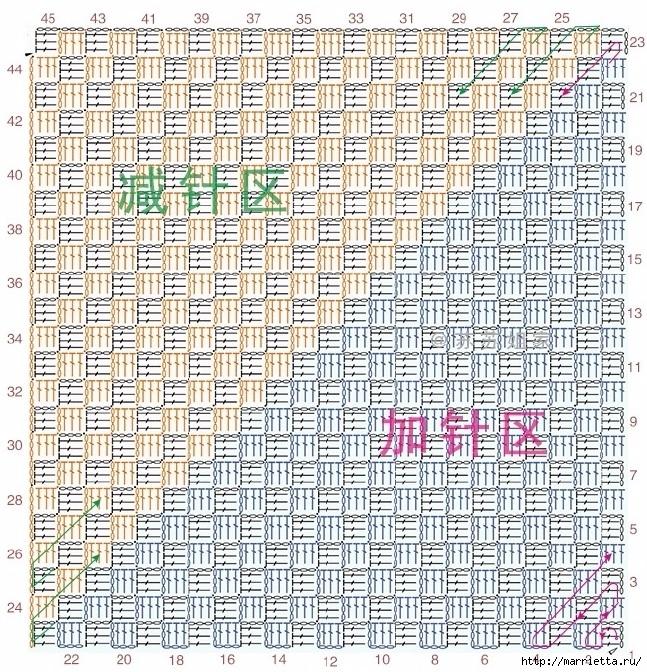 Детский плед крючком из мотивов со зверюшками (7) (647x672, 547Kb)