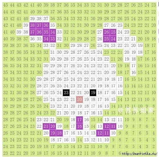 Детский плед крючком из мотивов со зверюшками (10) (540x532, 291Kb)