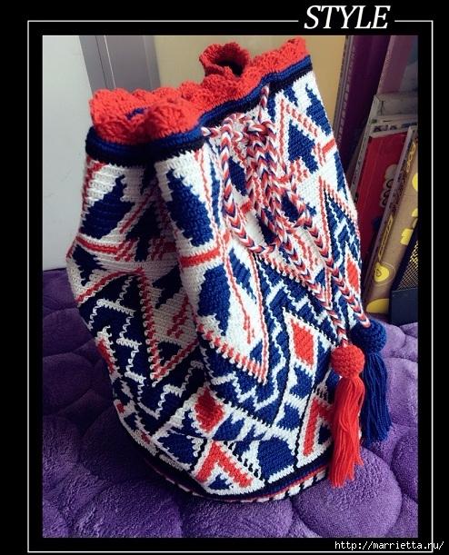 Схемы вязания зимней сумки - колумбийской мочилы (1) (494x611, 275Kb)