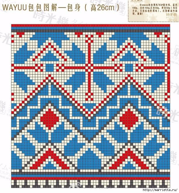 Схемы вязания зимней сумки - колумбийской мочилы (3) (622x673, 431Kb)