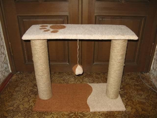 Как сделать когтеточку для кота своими руками в домашних условиях