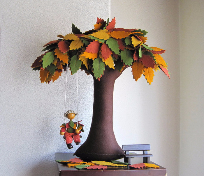 Осенние поделки из ткани