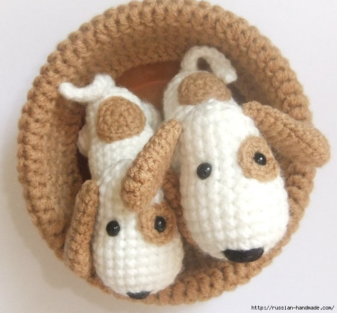 Крошечные собачки амигуруми. Описание (684x637, 218Kb)