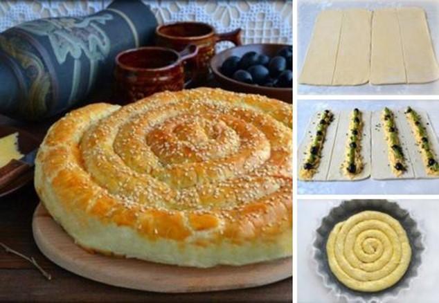 Слоёный пирог «по деревенски»