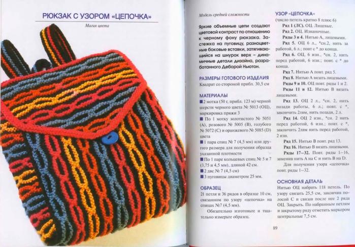 Вязание рюкзаков и сумок