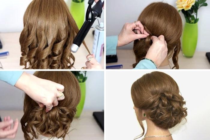 Прически на средние волосы фото своими руками