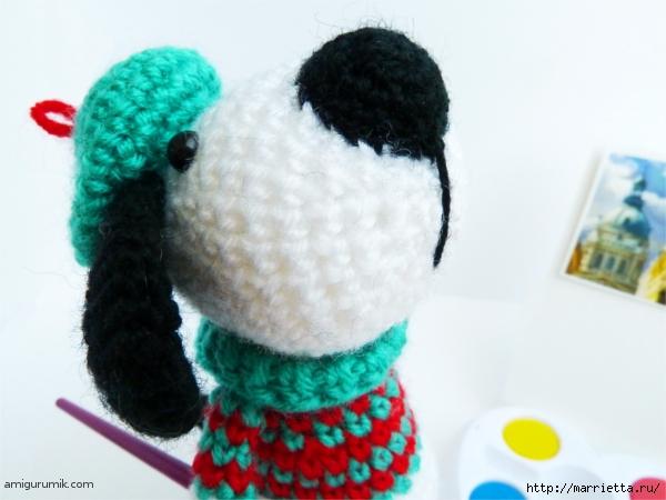 Вяжем игрушку к Новому году. Собачка - художник амигуруми (2) (600x450, 164Kb)
